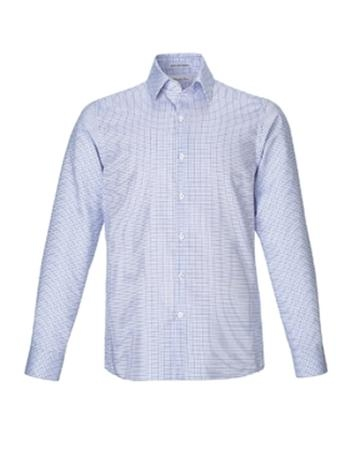 MEN'S WRINKLE FREE 2-PLY 80'S COTTON CHECKERED DOBBY TWILL TAPED SHIRTS