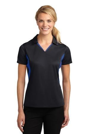 Sport-Tek® Ladies Side Blocked Micropique Sport-Wick® Polo