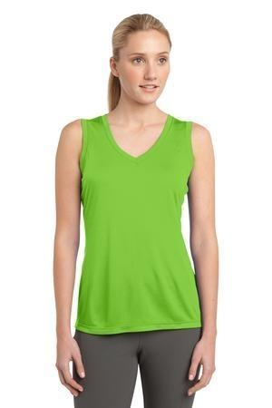 Sport-Tek® Ladies Sleeveless PosiCharge™ Competitor™ V-Neck Tee