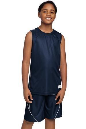 Sport-Tek® Youth PosiCharge™ Mesh Reversible Sleeveless Tee
