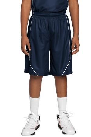 Sport-Tek® Youth PosiCharge™ Mesh Reversible Spliced Short