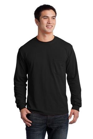 Gildan - Ultra Cotton® 100% Cotton Long Sleeve T-Shirt with Pocket
