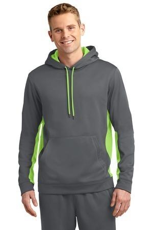 Sport-Tek® Sport-Wick® Fleece Colorblock Hooded Pullover