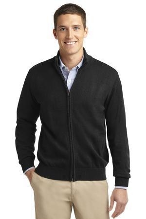 Port Authority® Value Full-Zip Mock Neck Sweater
