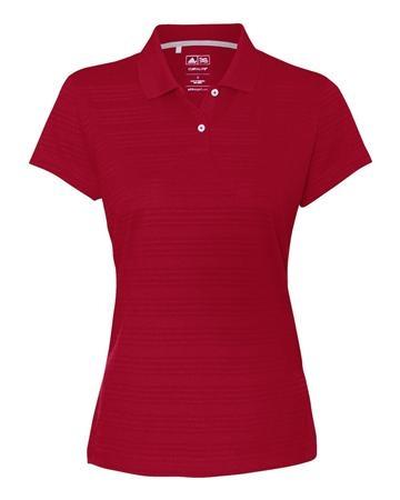 adidas - Golf Ladies' ClimaLite® Textured Short Sleeve Polo