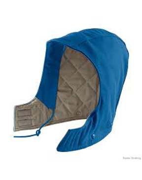 FLAME-RESISTANT DUCK HOOD, QUILT-LINED
