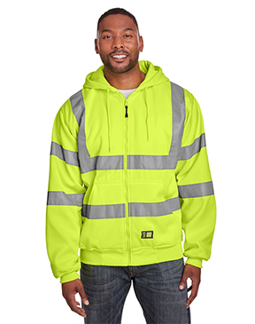 Berne Men's Berne Hi-Vis Class 3 Lined Hooded Sweatshirt