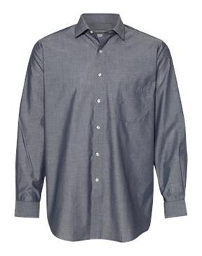 Van Heusen - Chambray Spread Flex Collar Shirt