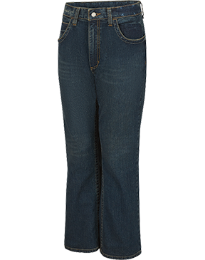 RELAXED FIT BOOTCUT STRETCH JEAN