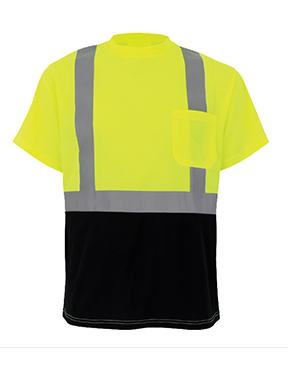 Class 2 Black Bottom Safety T-shirt