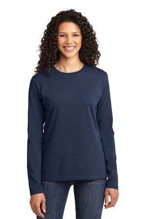 Port & Company® Ladies Long Sleeve 5.4-oz 100% Cotton T-Shirt